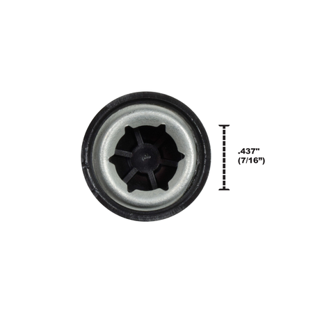 Power Wheels .437 Push Nut Wheel Retainer Cap