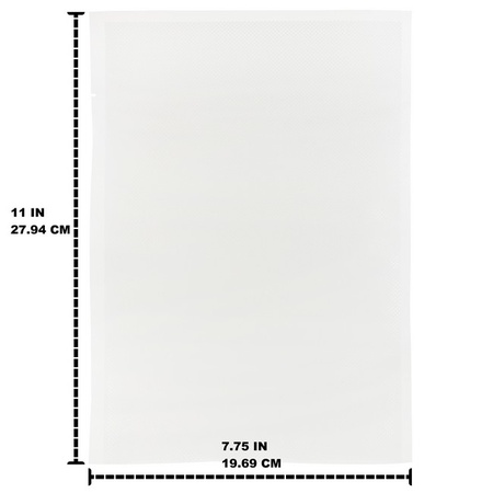 Quart Size 8x11 Bags, 100 Pack. Fits Tilia Foodsaver