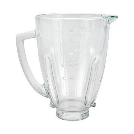"Replacement 124461-000 Round Glass Blender Jar, 5"" Opening"