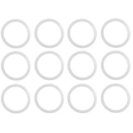 Sunshine Mason Co. Silicone Mason Jar Rim Seal Gasket  Regular Mouth 12 Pieces