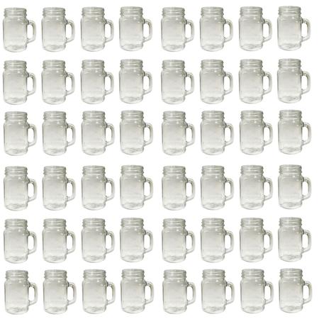 Sunshine Mason Co. Mason Jar Glass Mugs with Handles Pint Size (16 ounce, 473 mL) Regular Mouth 48 Pieces