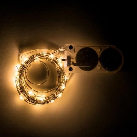 Sunshine Mason Co. LED Mini Fairy Lights for Mason Jars 20 LED's 6 Feet , 6 Pieces