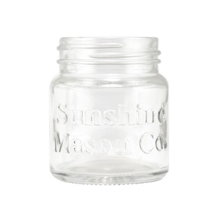 Sunshine Mason Co. Mini Mason Jar Shot Glasses with Metal Lid 2 Ounces, 12 Pieces
