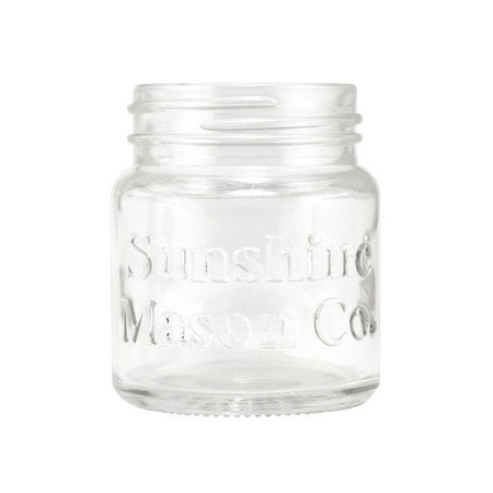Sunshine Mason Co. Mini Mason Jar Shot Glasses with Metal Lid 2 Ounces, 24 Pieces