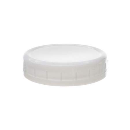 Sunshine Mason Co. Pint Regular Mouth Glass Mason Jars with White Plastic Storage Lids 6 Pack