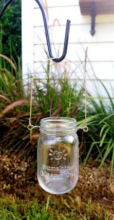 Sunshine Mason Co. Pint Sized Glass Mason Jars with Hanger Handles Set of 6