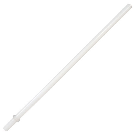 Sunshine Mason Co. Plastic Reusable Drinking Straws 6 Pieces, White