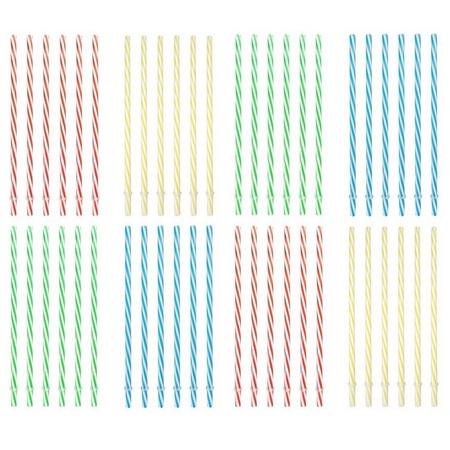 Sunshine Mason Co. Plastic, Reusable Drinking Straws 48 pieces, Multi Colors