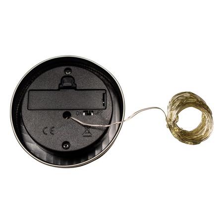 Sunshine Mason Co. Solar Mason Jar Fairy Firefly String Lights Regular Mouth Lid Warm White 20 LED's