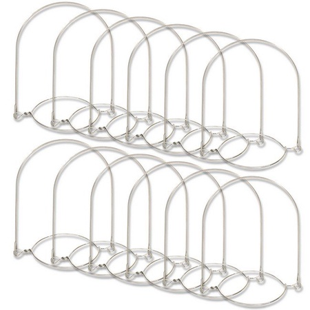 Sunshine Mason Co. Stainless Steel Wire Mason Jar Handle Hanger fits Regular Mouth, 6 Pieces