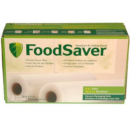 Tilia Foodsaver 8 Inch Vacuum Sealer Roll, 2 Pack