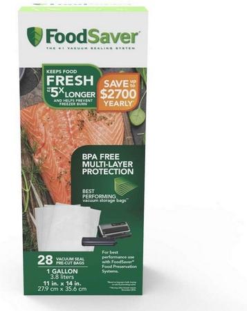 Tilia Foodsaver Vacuum Sealer Gallon Size Bags, 28pk