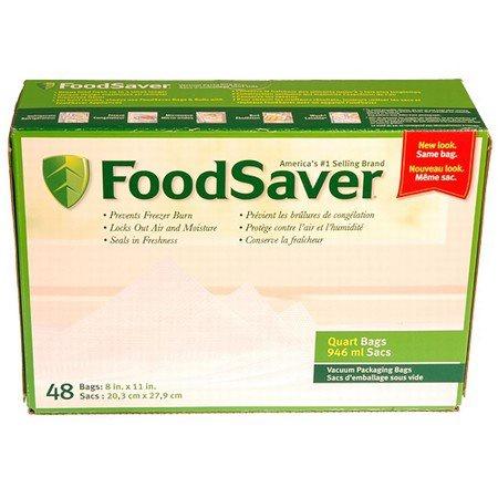 Tilia Foodsaver Vacuum Sealer Quart Size Bags, 44pk