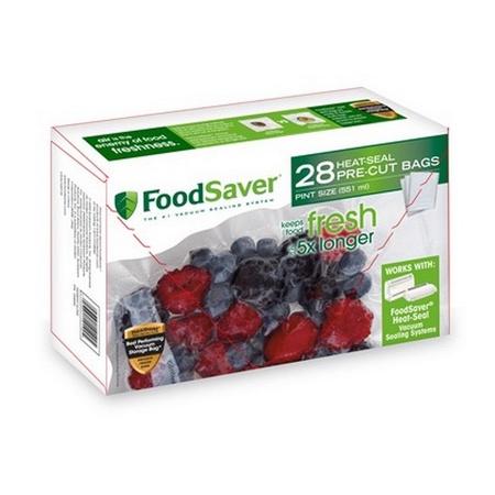 Tilia Foodsaver Vacuum Sealer Pint Size Bags, 28pk