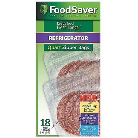 Tilia Quart-size Zipper Bags, 18-count