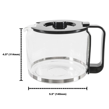 Univen 12 Cup Glass Coffee Maker Carafe