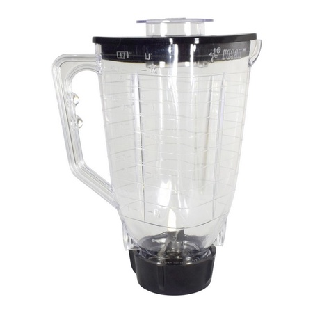 Univen 5 Cup Break Resistant Plastic Square Complete Blender Jar fits Oster