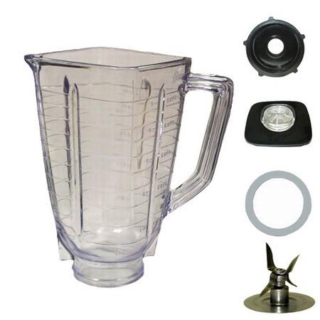 Univen 5 Cup Plastic Square Complete Blender Jar fits Oster
