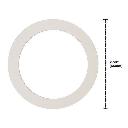 "Univen 2.25"" (57mm) Espresso Filter and Gasket Seals Compatible with Bialetti 3 Cup Aluminum Espresso Makers"