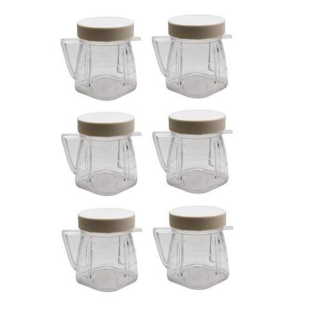 Univen 8 Oz Mini Blender Jar With Sealed Lid for Oster & Osterizer Blenders 6 Pack