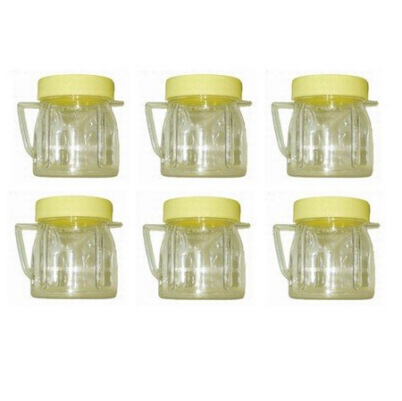 Univen 8 Oz Mini Blender Jars With Lid for Oster & Osterizer Blenders 6 Pack
