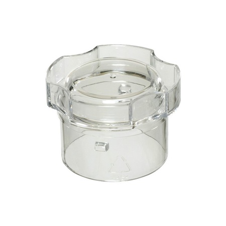 """Univen Blender Jar Lid and Cap fits Oster 124461 Round Jar with 5.125"""" Inside Diameter White"""
