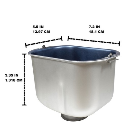 Univen Breadmaker Bread Pan Replaces Sunbeam Oster 102529-000-000