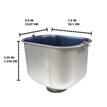 Univen Breadmaker Bread Pan Replaces Breadman 34924 fits TR520 TR875