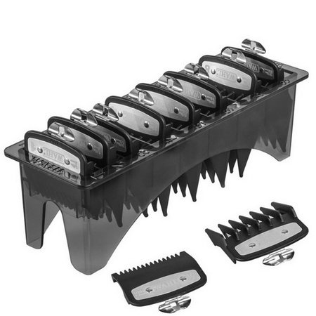 Wahl 3171-500 8 Pack Premium Clipper Cutting Guide Combs with Tray