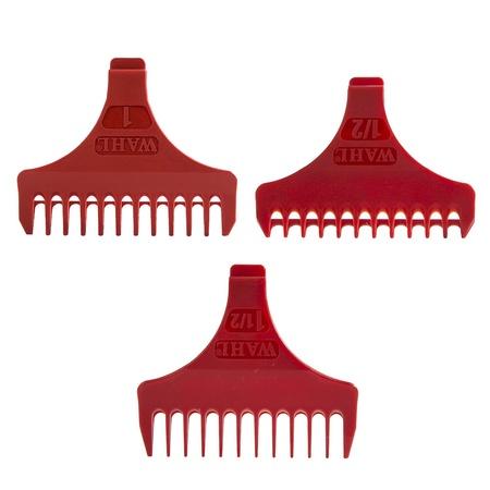 Wahl 3792 Trimmer Guide Combs fits T Wide Blade 5 Star Detailer, Cordless Detailer, Detailer Li  and Retro T-Cut