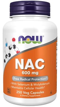 Now Foods NAC N-Acetyl-L-Cysteine 600 Mg  - 250 Cap
