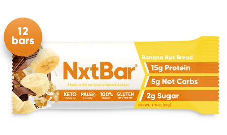 NxtBar Protein Bars Banana Nut Bread - 12 Bars