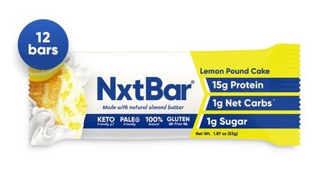 NxtBar Protein Bars Lemon Pound Cake - 12 Bars