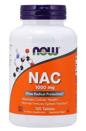 Now Foods NAC N-Acetyl-L-Cysteine 1000 Mg  - 120 Tablets