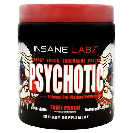 Insane Labz Psychotic  Fruit Punch - 35 Servings