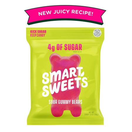 SmartSweets Sour Gummy Bears - 1.8oz. (Pack of 12)