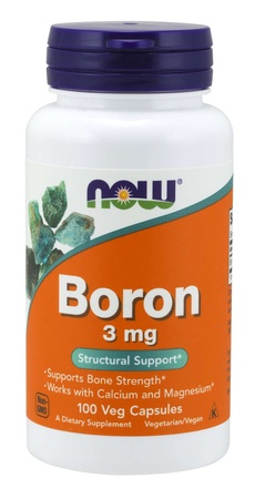 Now Foods Boron 3 Mg - 100 Cap