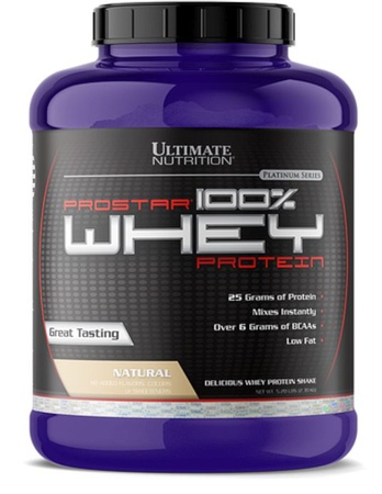 Ultimate Nutrition Prostar Whey Protein Plain Natural - 5 Lb