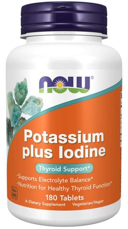 Now Foods Potassium plus Iodine - 180 Tab