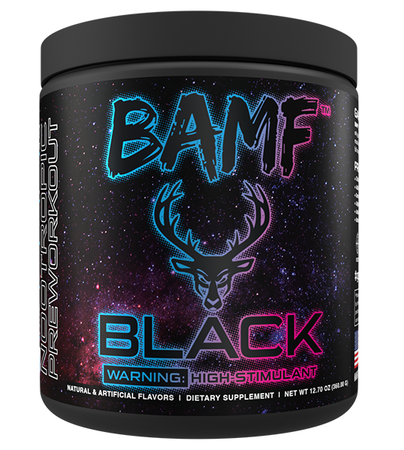 Bucked Up BAMF BLACK  Welcome to Miami (Strawberry - Mango - Pineapple) - 30 Servings