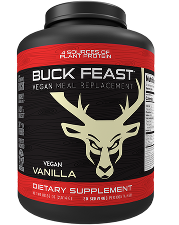 Bucked Up Buck Feast Meal Replacement Vegan Vanilla - 30 Servings