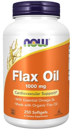 Now Foods Flax Seed Oil Capsules 1000 Mg - 250 Softgels
