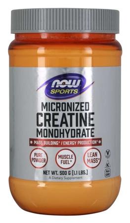 Now Foods Creatine Monohydrate, Micronized Powder - 500 Grams