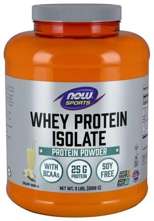 Now Foods Whey Protein Isolate Vanilla - 5 Lb