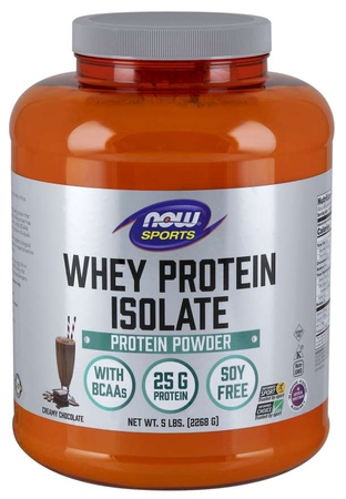 Now Foods Whey Protein Isolate Chocolate - 5 Lb