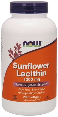 Now Foods Sunflower Lecithin 1,200 mg - 200 Softgels