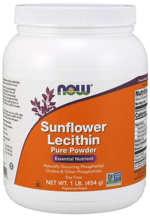 Now Foods Sunflower Lecithin, Pure Powder - 1 Lb (454 g)