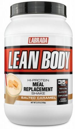 Labrada Lean Body Hi-Protein Meal Replacement Shake MRP Salted Caramel - 2.47 Lb (16 Servings)