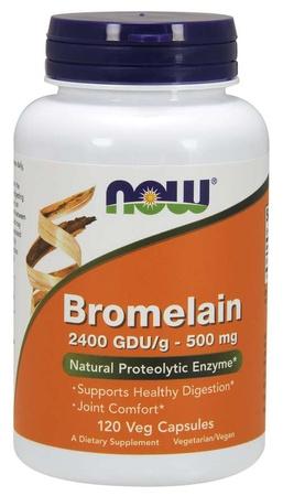Now Foods Bromelain 2400 GDU/g - 120 Cap