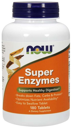 Now Foods Super Enzymes Tablets - 180 Tab